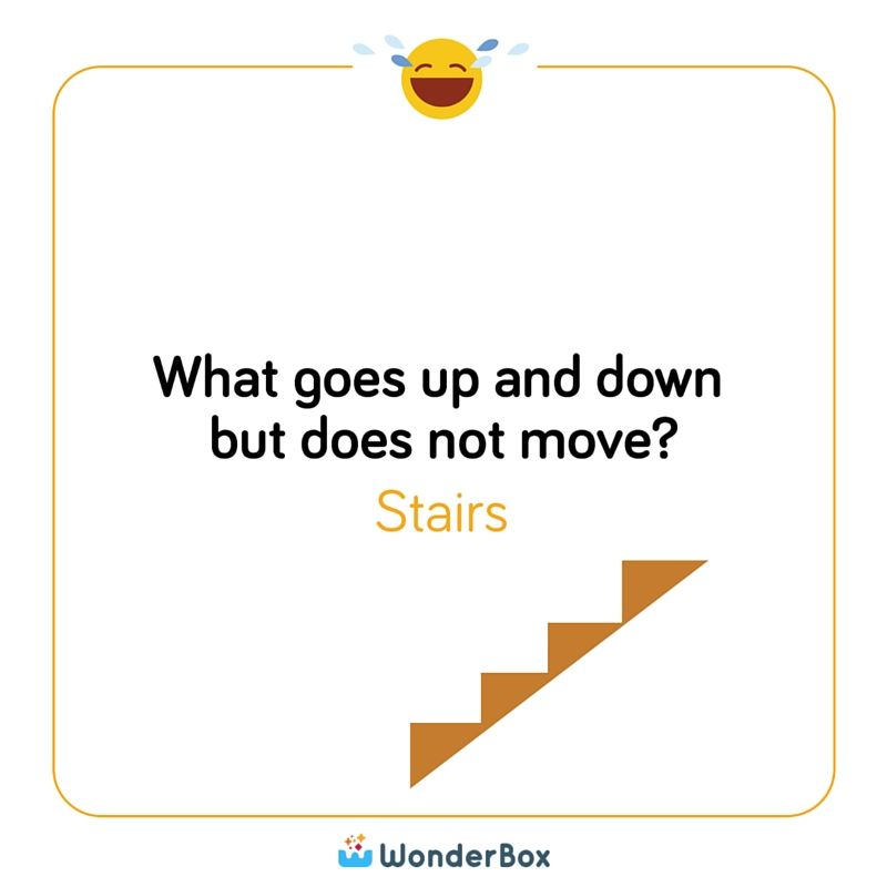 Funny Question And Answer Jokes: What Goes Up And Down But Does Not Move? Answer: Stairs