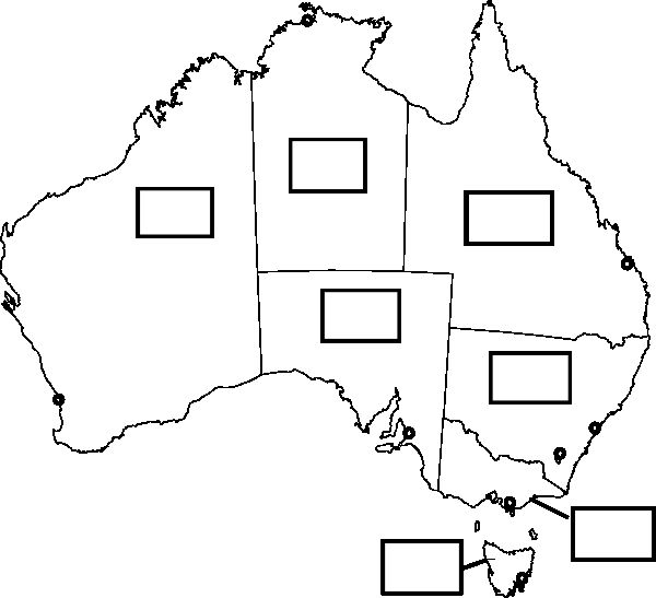 Australia Blank Map Printable australia map with states and capital