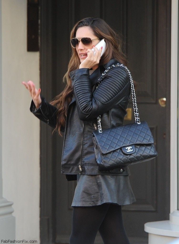 9beab9b86d4a Style Watch: How celebrities wear the leather jacket for autumn ...