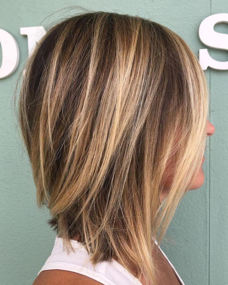 70 perfekte mittellange Frisuren für dünnes Haar - Samantha Fashion Life #shortlayeredhairstyles