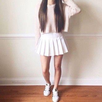 Pastel Tennis Skirts Fashion Pleated Skirt Short
