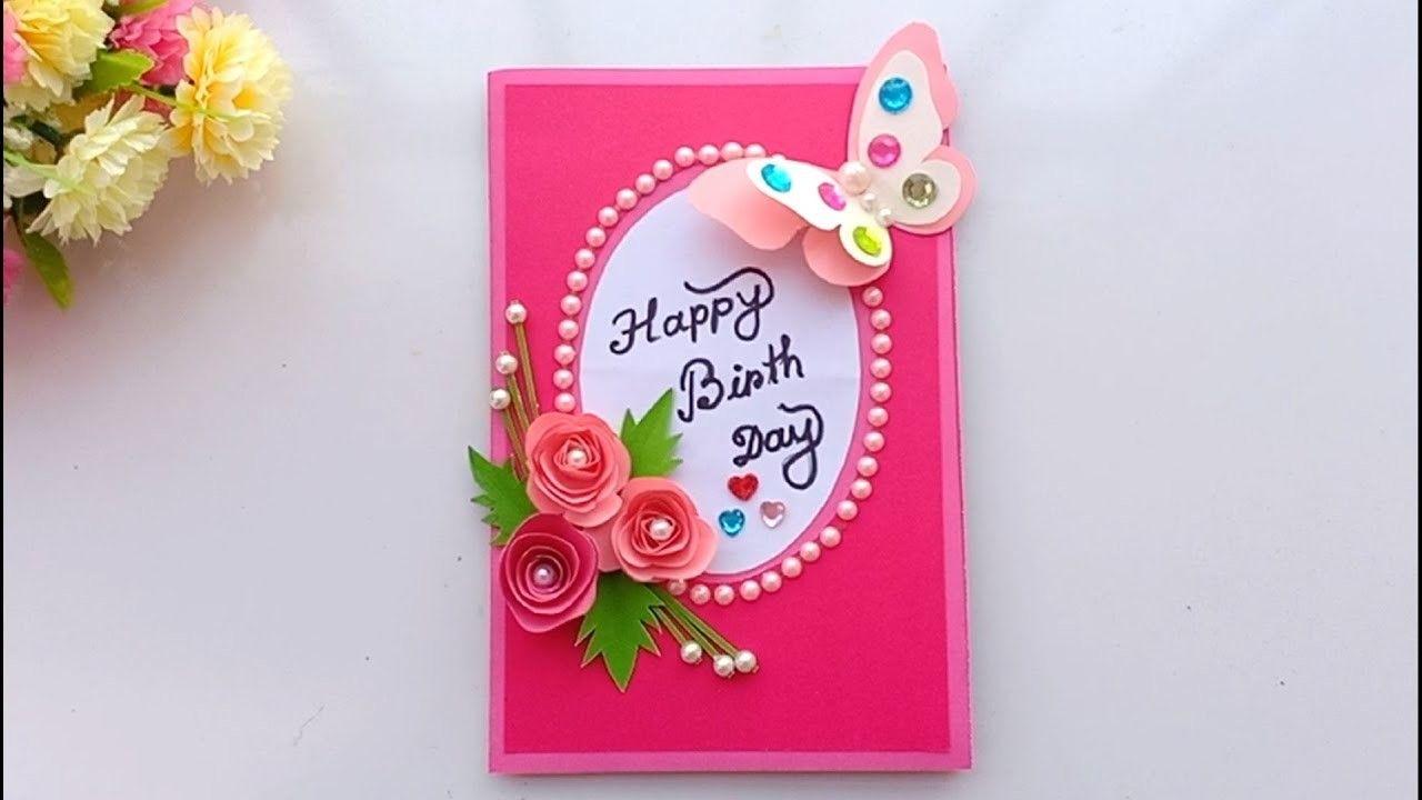 Beautiful Handmade Birthday Card Birthday Card Idea Handmade Bday Cards Handmade Birthday Cards Handmade Paper Crafts