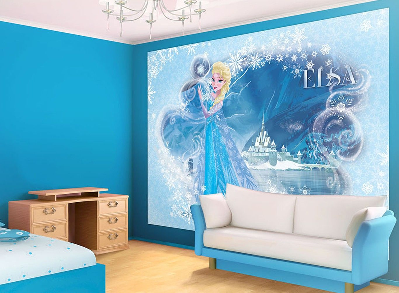 Elsa Frozen Disney wallpaper mural