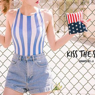 Buy chuu Sleeveless Stripe Bodysuit Top at YesStyle.com! Quality products at remarkable prices. FREE WORLDWIDE SHIPPING on orders over US$ 35.