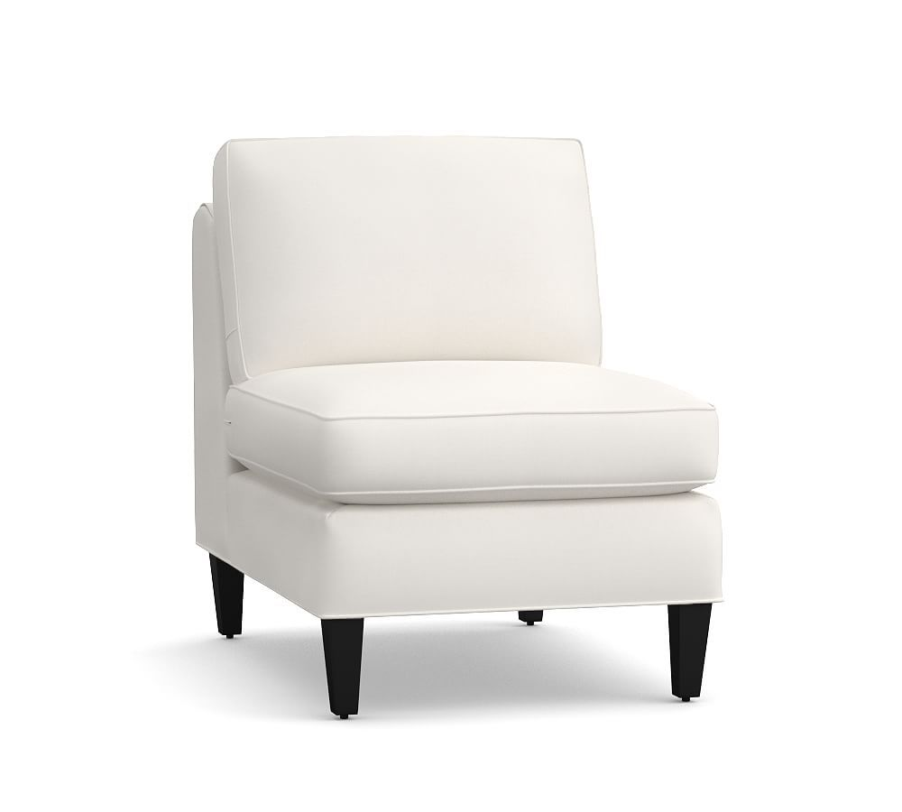 Beverly Upholstered Armless Chair, Polyester Wrapped