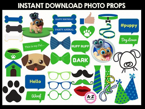puppy dog pals photo props centerpieces dog party