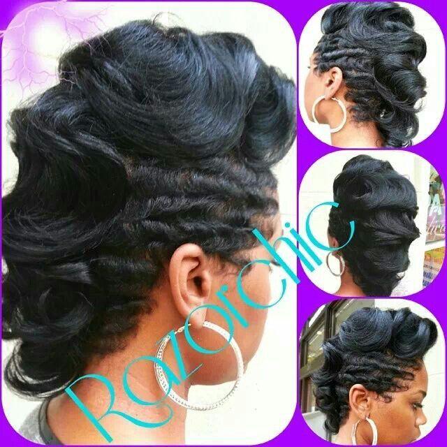 Finger Wave Mohawk Wavey Hair Sassy Hair Hair