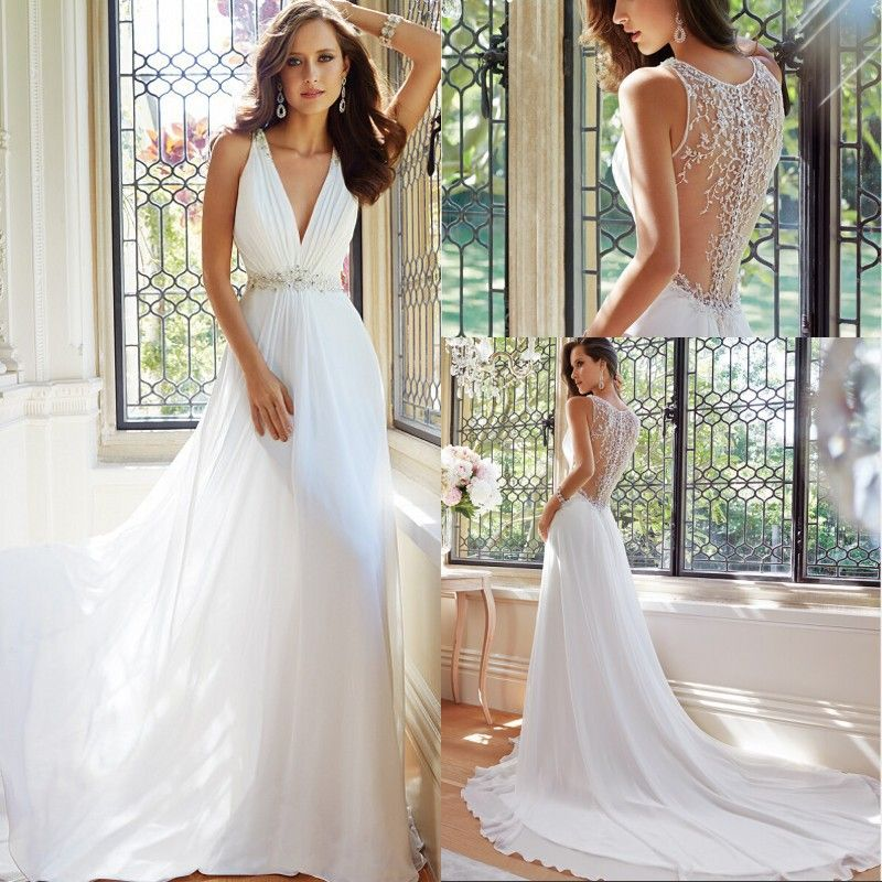 Simple Elegant Wedding Dresses With Enthralling Patterns    Http://www.elasdress.
