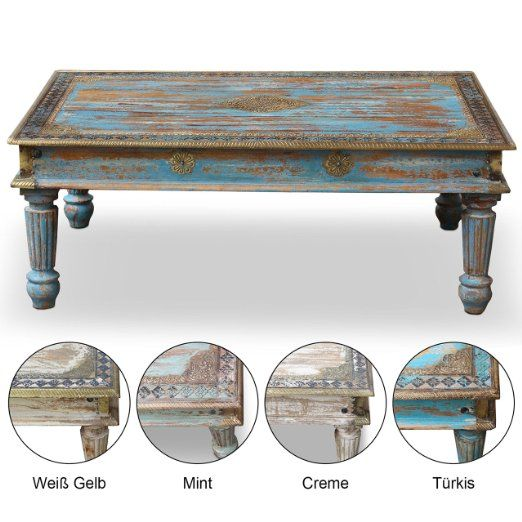 wohnzimmertisch couchtisch holztisch tisch landhaus barock vintage shabby retro antik look 120. Black Bedroom Furniture Sets. Home Design Ideas