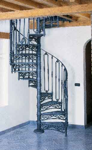 The Roma Spiral Stairs Cast Iron Spiral Staircases For Either | Wrought Iron Spiral Staircase | Old | Plant Stand | Stair Case | Transitional | Narrow