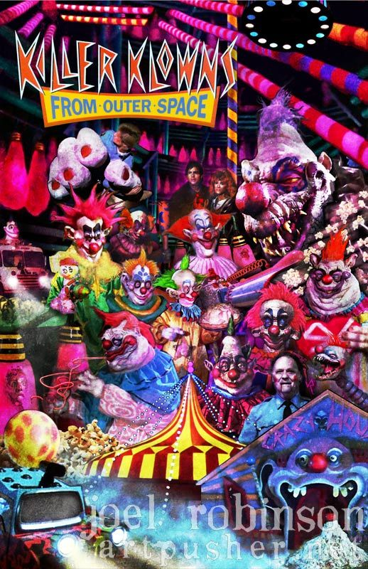 Killer klowns from outer space poster artwork from for Killer klowns 2