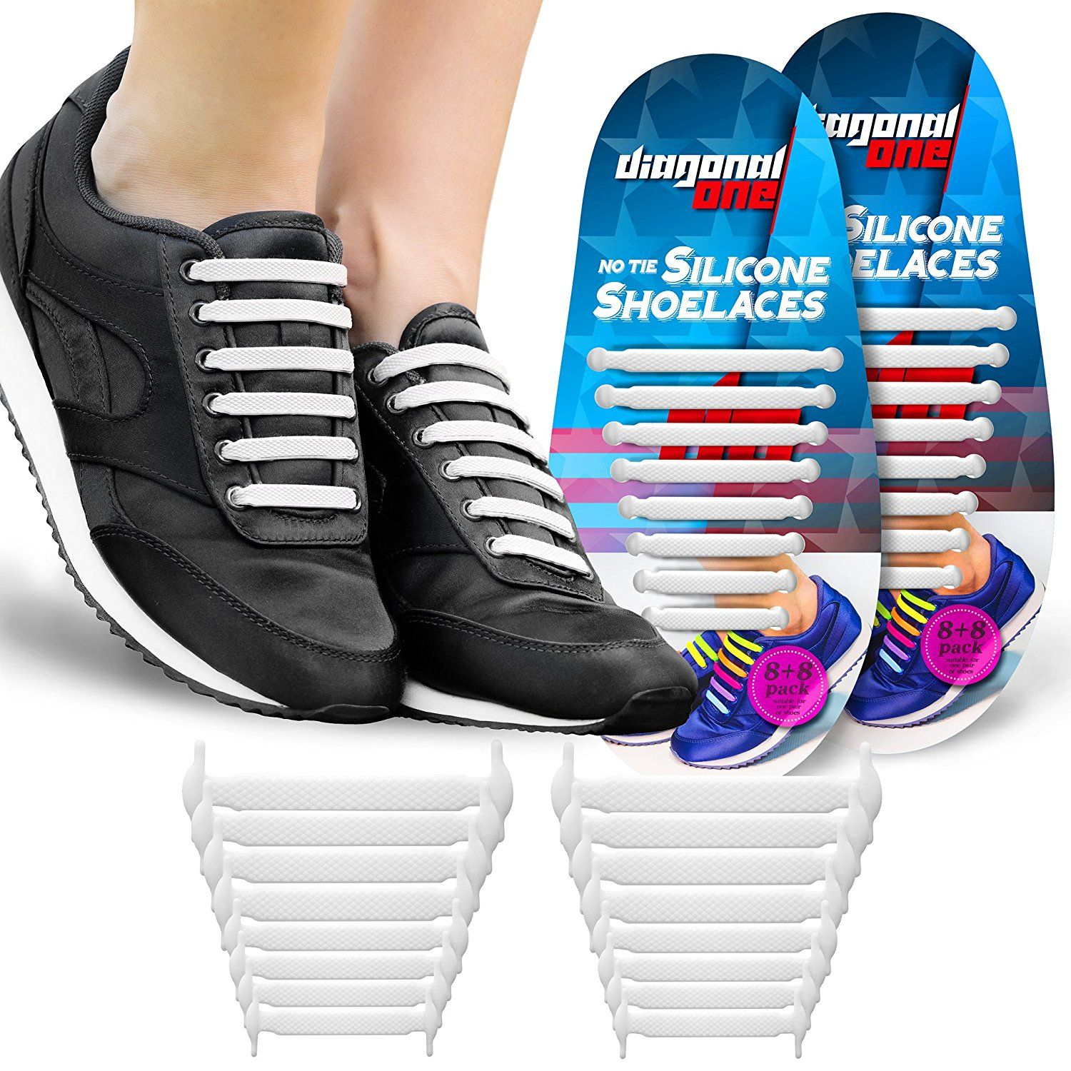 d8dab2ad437d8 No Tie Shoelaces for Kids & Adults. THE Elastic Silicone Shoe Laces ...
