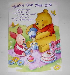 Piglet And Pooh Birthday Cards