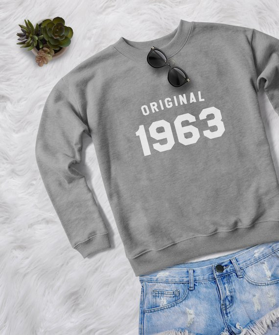 55th Birthday Gift For Women 1963 Pullover Sweatshirt Jumper Woman Shirt Mom Gifts