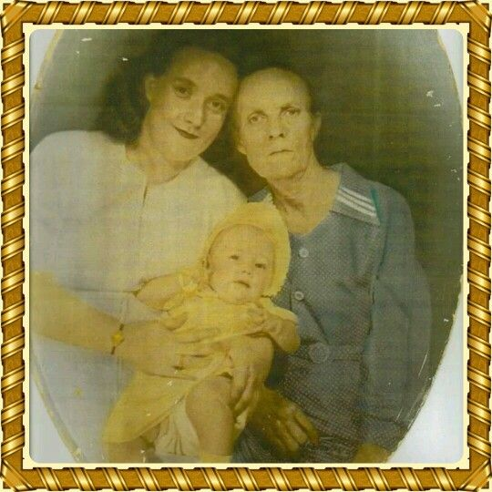 This pic is 62 years old me my mother and my grandmother