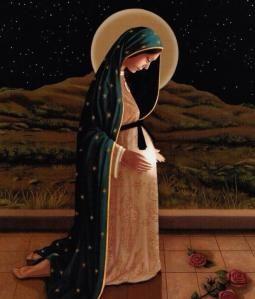 Maria com o Menino - luz