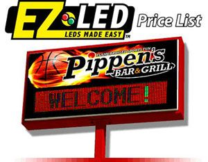 Combination LED/backlit sign on pole, from 4x8 feet and up  Order