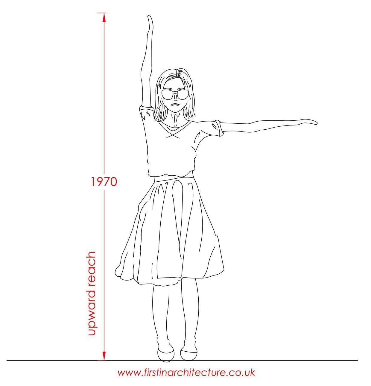 Metric Data 01 Average Dimensions Of People Standing Woman