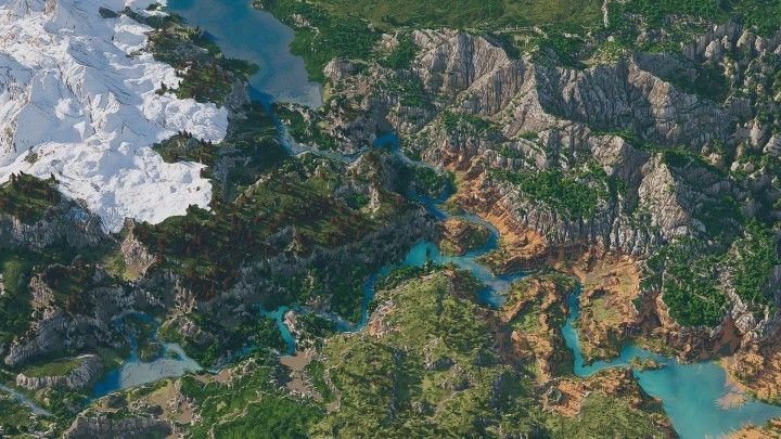 Custom Biome Terrain Map 4kx4k World Painter World Machine Download