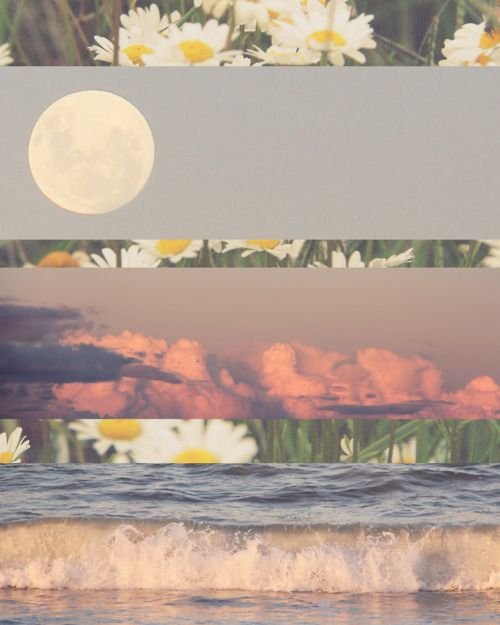Pretty White Sky Hipster Vintage Inspiration Boho Indie Moon
