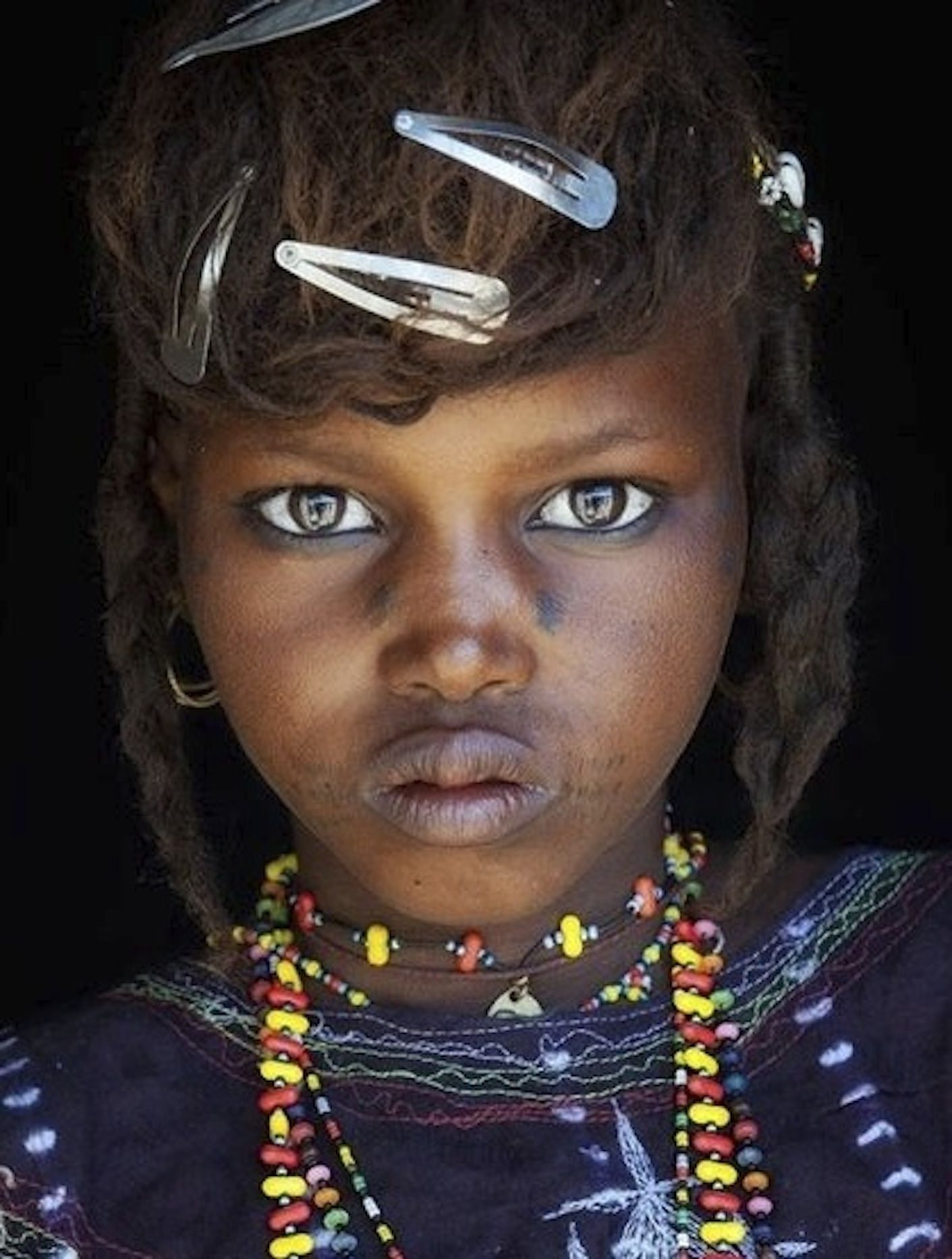 Wodaabe girl, in the decertified regions of Niger near Sahara
