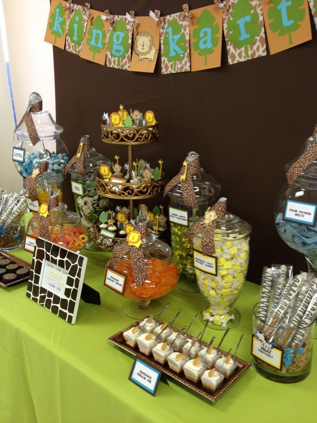 Safari Jungle Theme Candy & Dessert Table by OC Sugar Mama