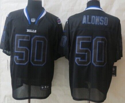 nike buffalo bills 50 kiko alonso lights out black elite jersey