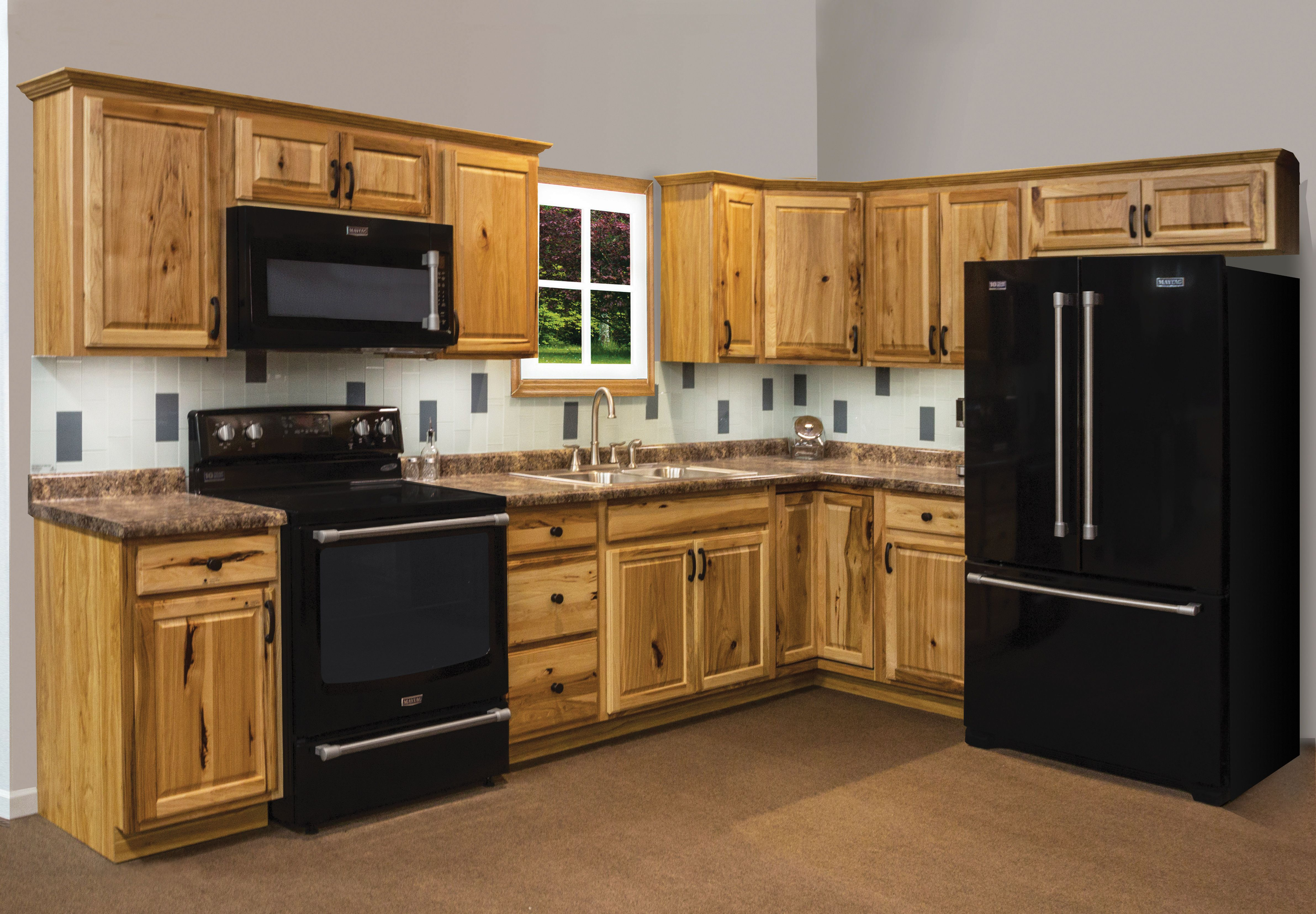 Denver Hickory Kitchen Cabinets Add A Rustic Look To Your Kitchen With Thunder Bay Hickory
