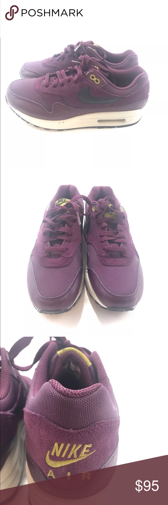 super popular 7a346 a3d4d Nike Mens Air Max 1 Leather Premium Nike Mens Air Max 1 Leather Premium Sz  8 Bordeaux Dessert Moss Shoes 875844-601 Nike Shoes