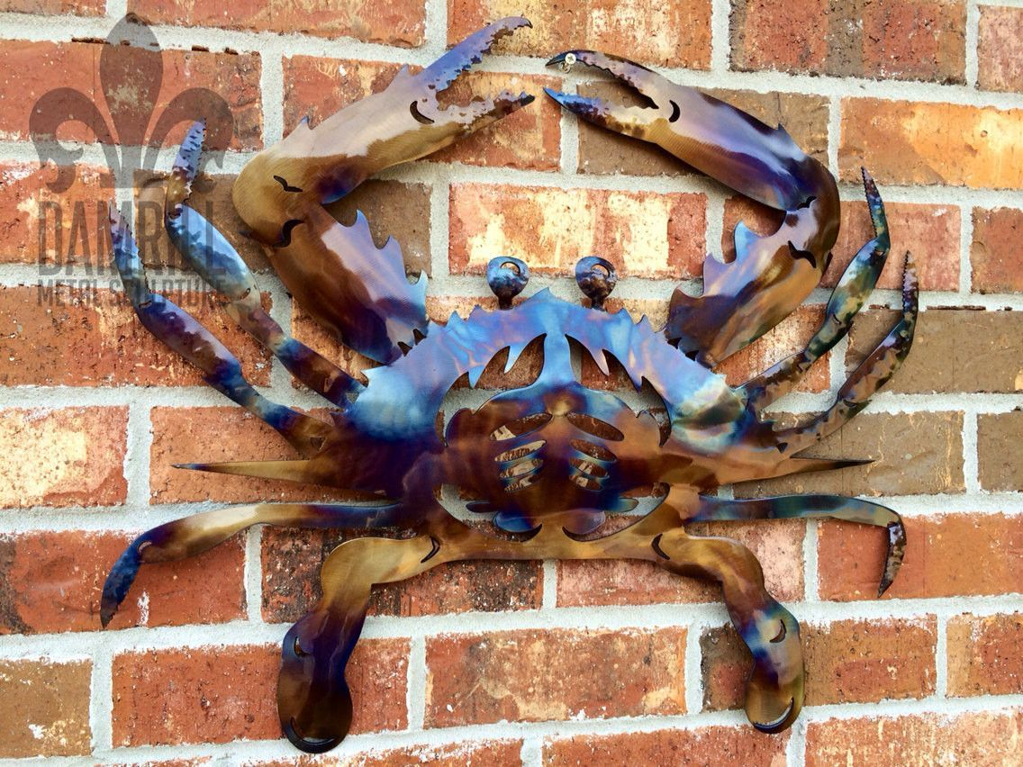 Blue Crab Wall Art Crustacean Seafood