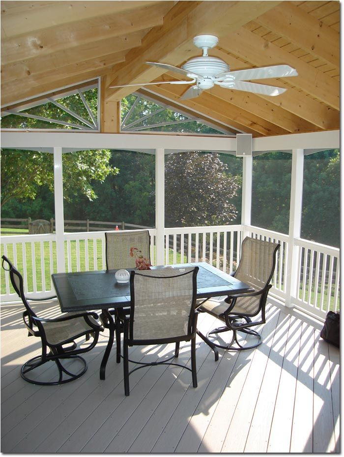 Interior View Of 20 X 14 Porch Procell Decking Material House With Porch Porch Design Patio