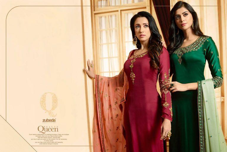 f65a46f92a zubeda presents meraki silk party wear festive salwar kameez catalog  wholesalers in surat - Krishna Creation