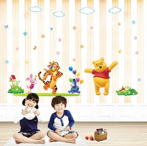 disney happy winnie the pooh nursery wall sticker | playroom update