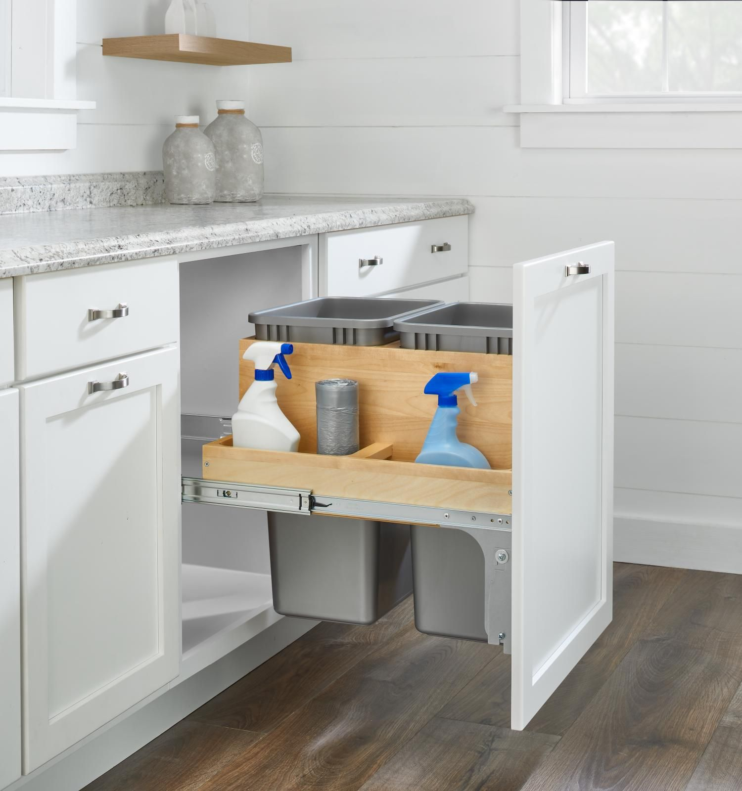 Rev A Shelf 4wctm Wood Drawer Box Trash Pull Out In 2020 Face Frame Cabinets Shelves Rev A Shelf