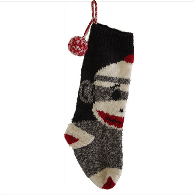Ravelry: Sock Monkey Christmas Stocking pattern by Robin Denney ...