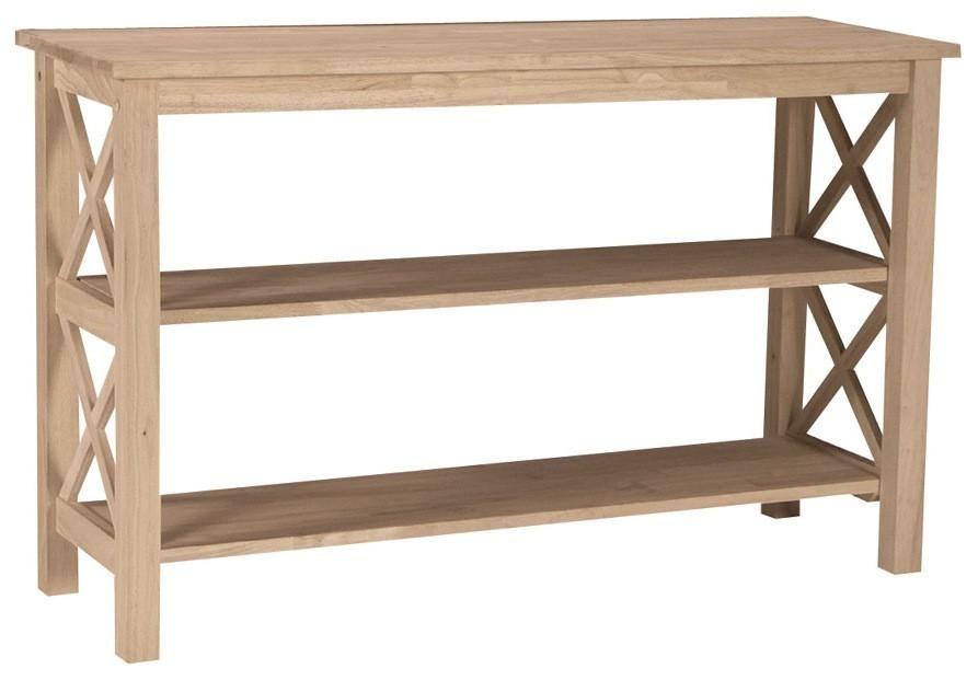 Hampton Hardwood X Sided 48 Sofa Table Finished Options 48 Unfinished Furniture Real Wood Furniture Sofa Table