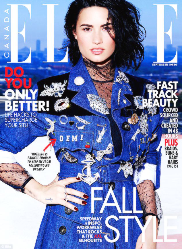 nowhollywood:  Demi Lovato for ELLE Canada   September 2016 Issue