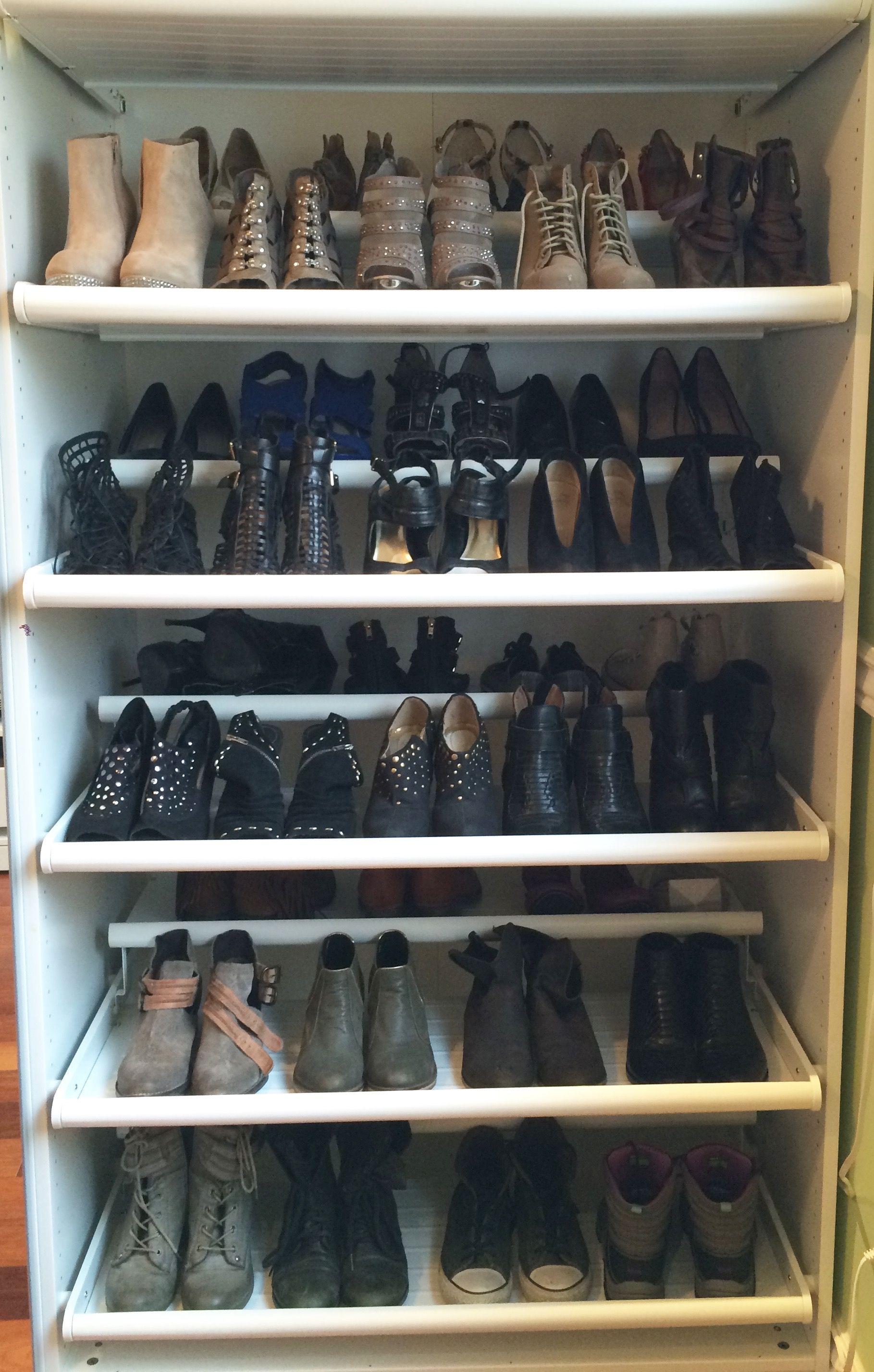 ikea pax wardrobe shoe closet by laura