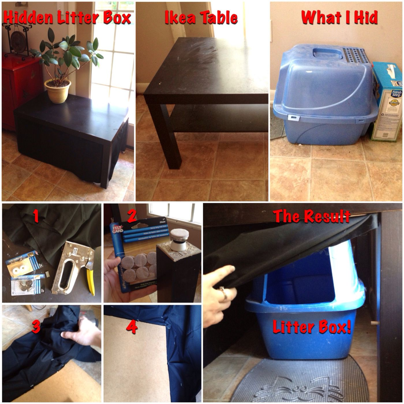 How to hide your  tall  litter box with a few bucks and an old & How to hide your