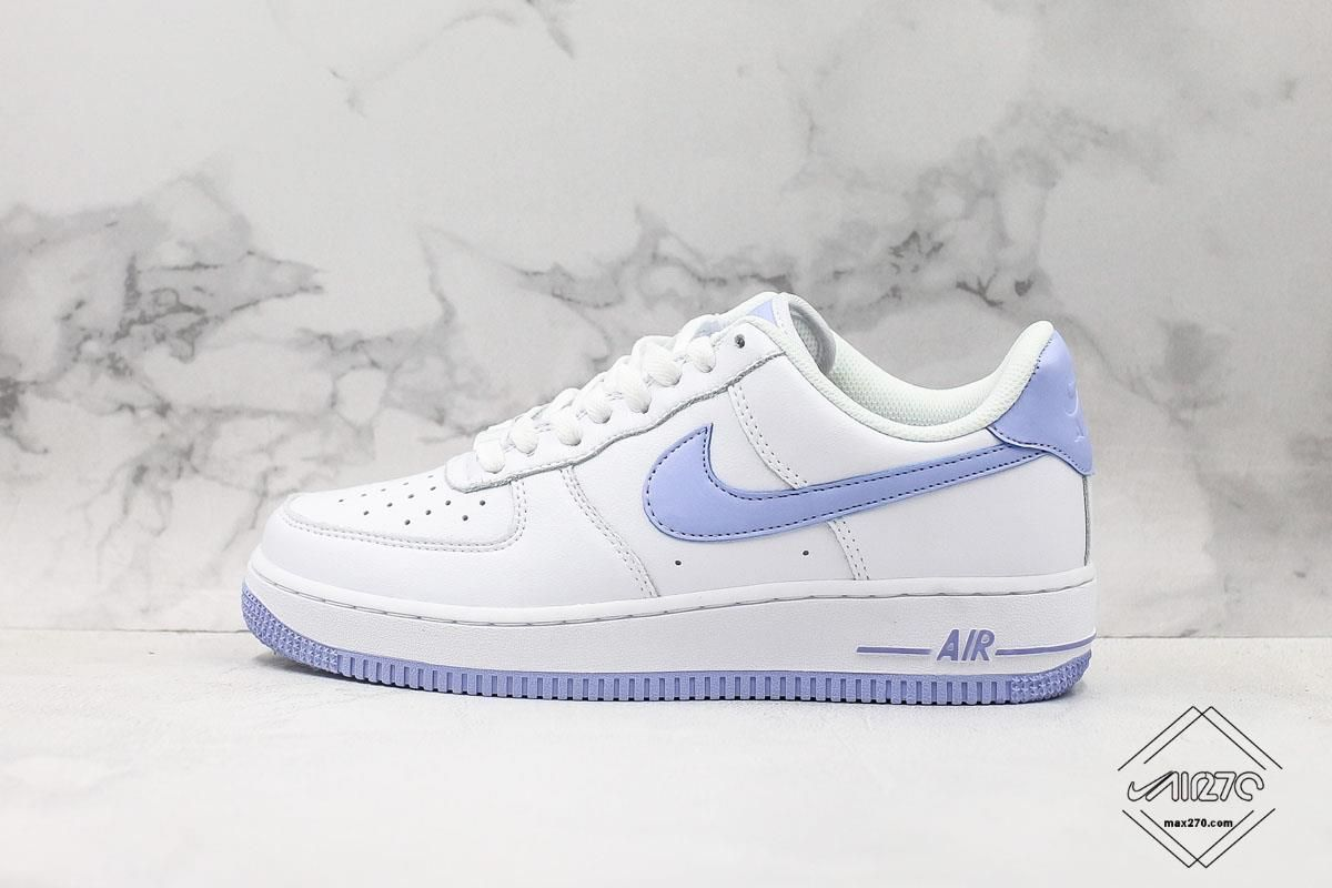 Nike Air Force 1 07 White Light Armory Blue in 2020 | Nike ...
