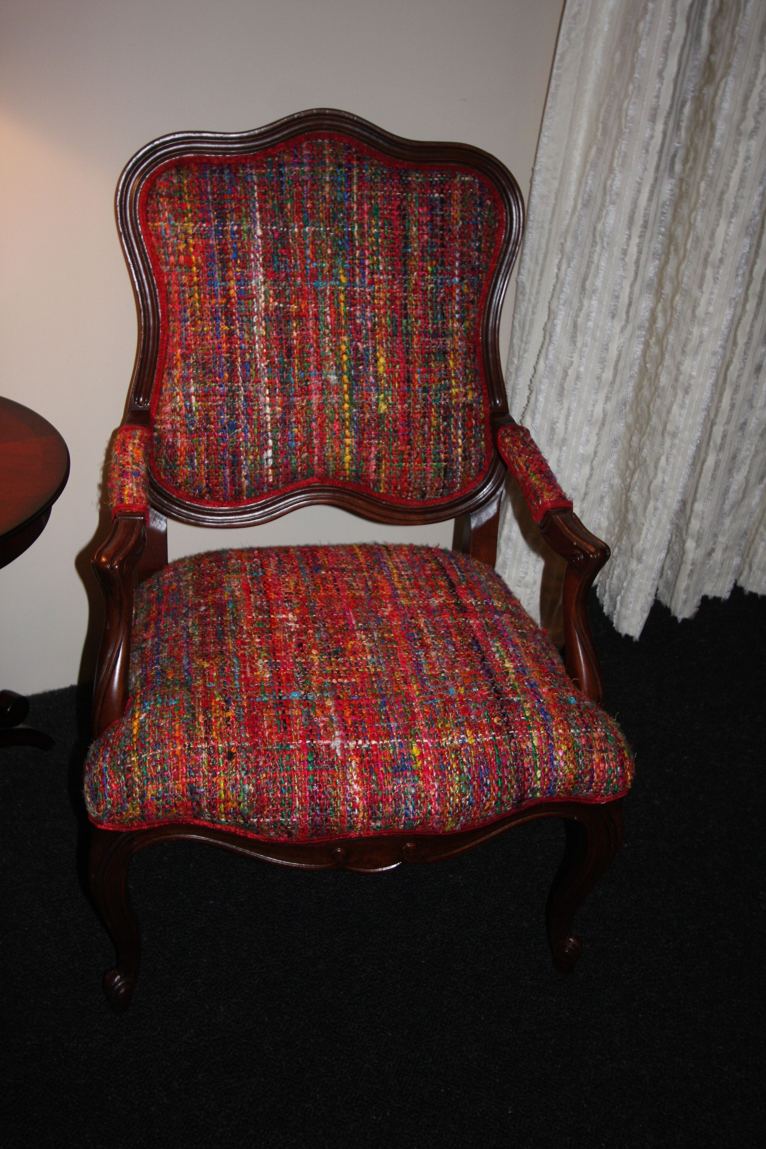 Multi Color, multi fabtric seen here as air chair