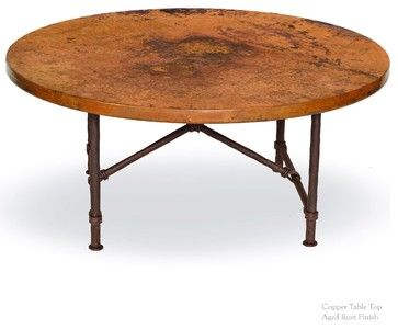 Burlington Coffee Table With 42 Round Top Craftsman Tables Timeless Wrought Iron Hammered Copper