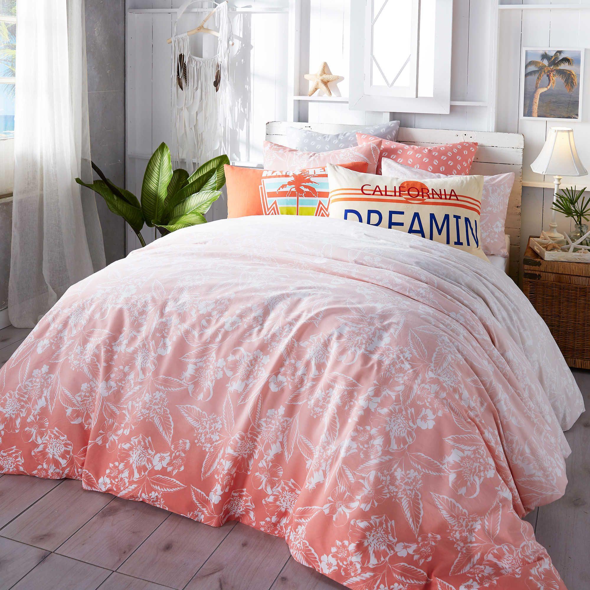 Hang ten ombre hibiscus comforter set bedding decor dorm and hang ten ombre hibiscus comforter set izmirmasajfo Images