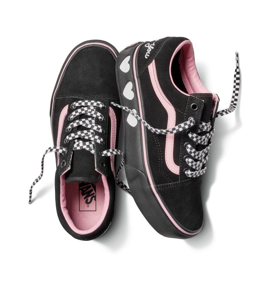 VANS x Lazy Oaf Old Skool Platform Black Womens Shoes  74ba5d643