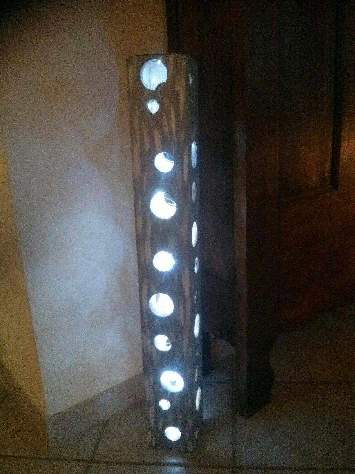 Toupalet Lampe d ambiance sur pied Hauteur 120 Cm Bois et Cuivre 69