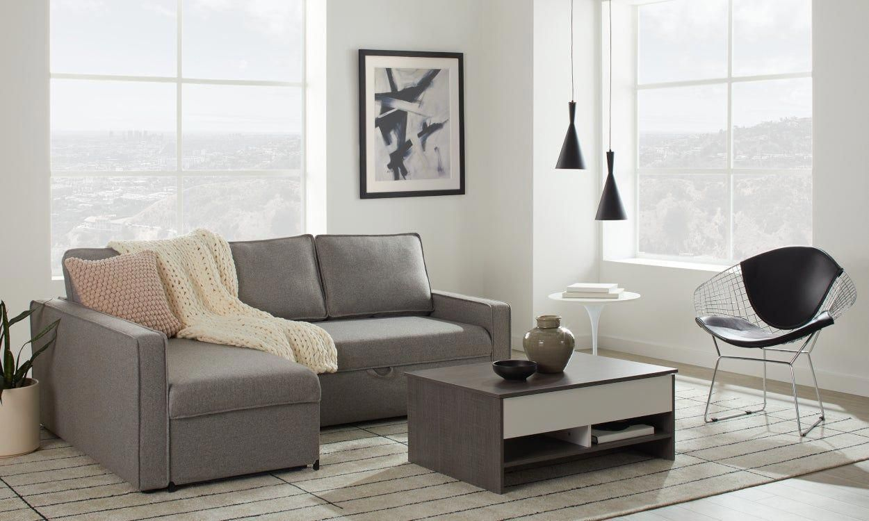 Sectional Sofa Red And Black In 2020 Sofas For Small Spaces Sofa Bed For Small Spaces Small Bedroom Sofa
