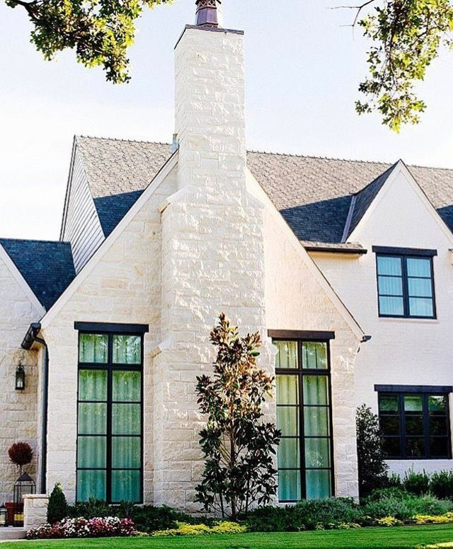 Brick Paint Color Sherwin Williams Accessible Beige Photo Becki Owens Modern Farmhouse Exterior House Exterior Farmhouse Exterior