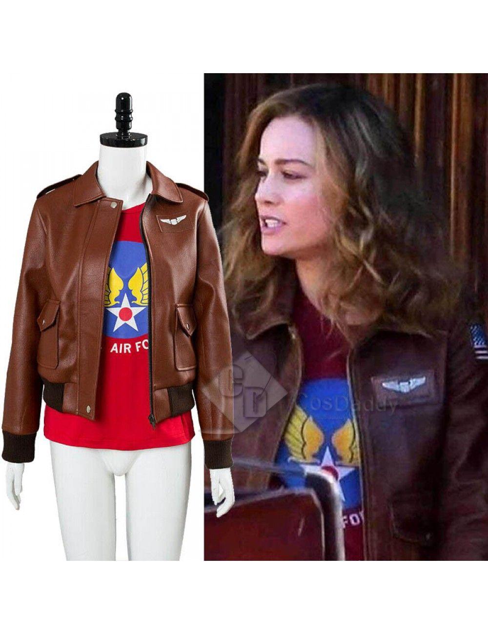 Captain Marvel Carol Danvers U S Air Force T Shirt Bomber Jacket Cosplay Costume Captain Marvel Costume Captain Marvel Carol Danvers Marvel Costumes [ 1300 x 1000 Pixel ]