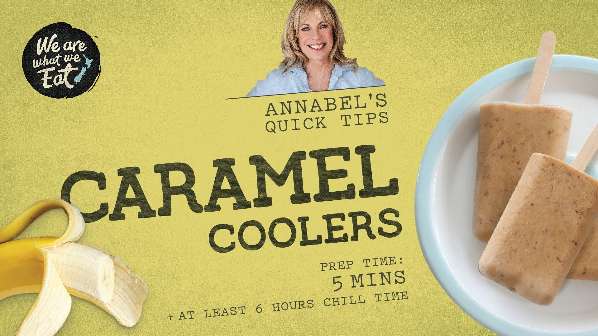 Caramel coolers summer snacks recipes caramel