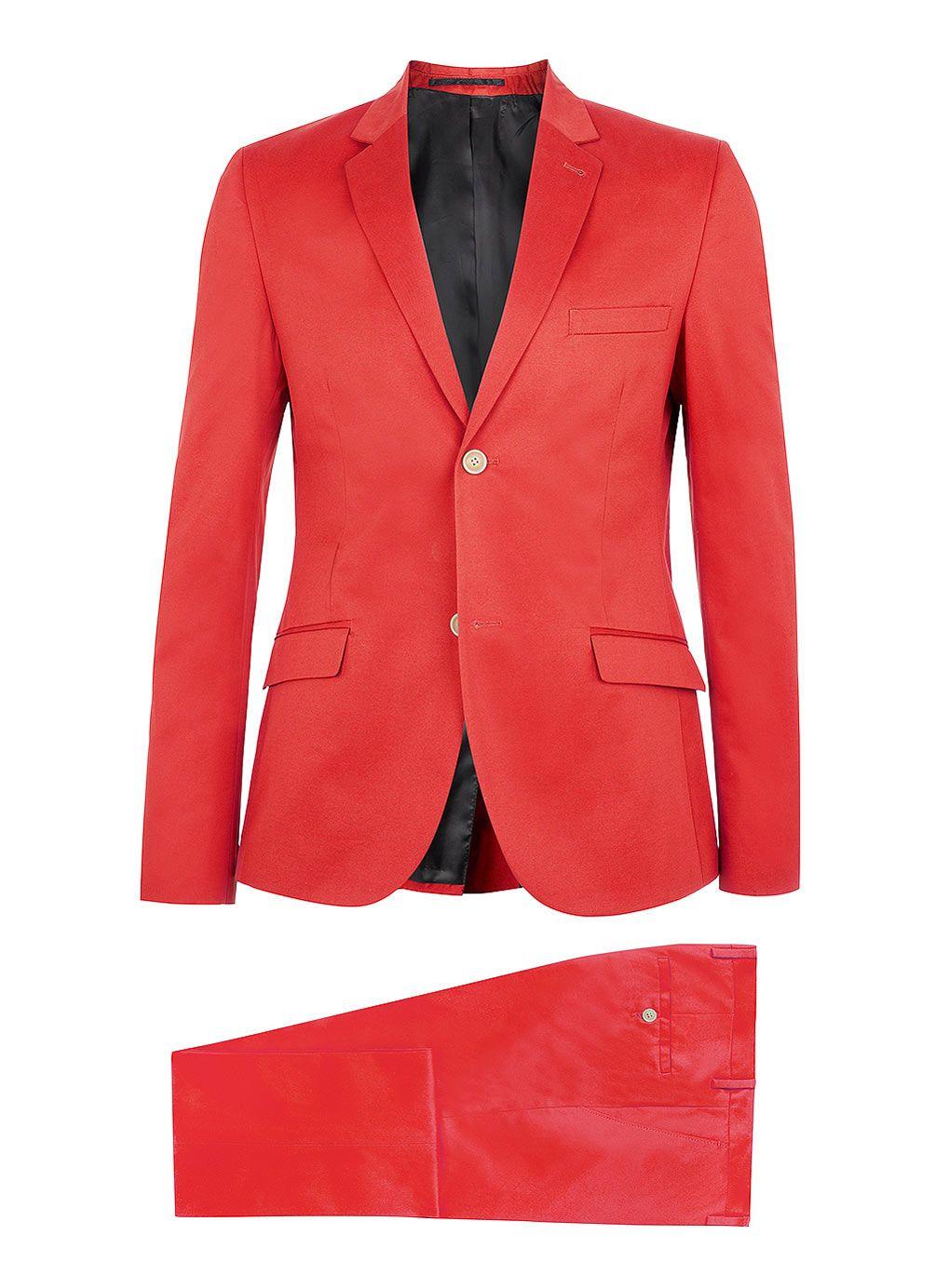 Red Cotton Skinny Suit Mens Suits Suits Topman Usa Mens Hottest Fashion Slim Fit Tuxedo Mens Suits